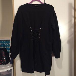 Bershka sweatshirt with a lace up detail